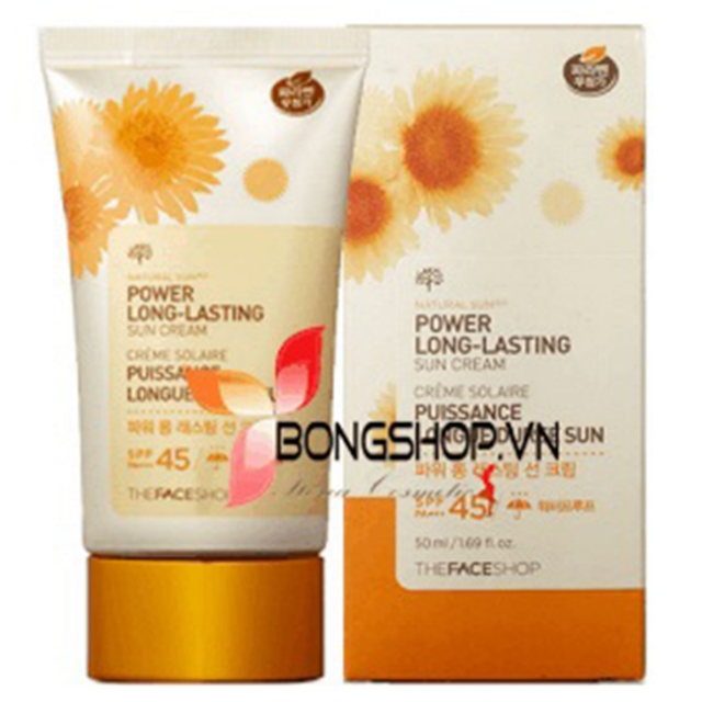 Kem chống nắng Power Long Lasting Sun Cream SPF45 PA+++ - The Face Shop 2014