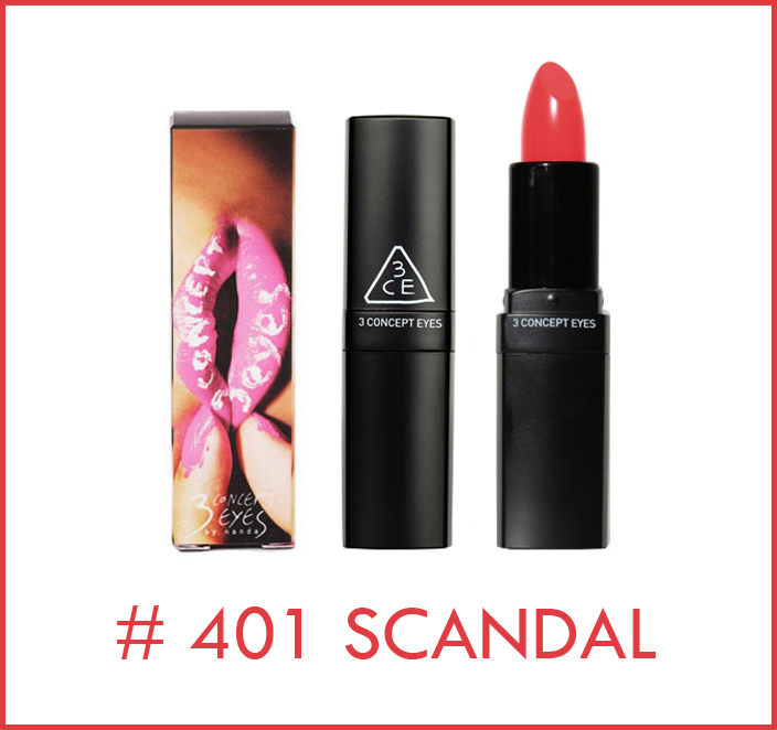 3 Concept Eyes Lip Color #401 Scandal