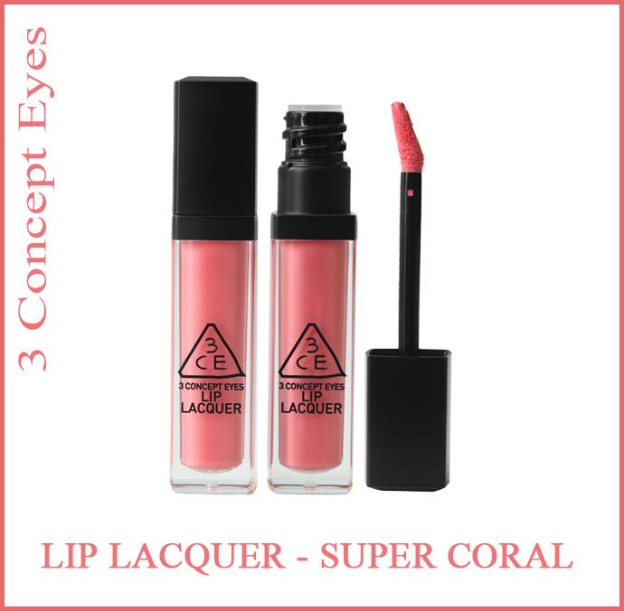 3ce Lip Lacquer Super Coral