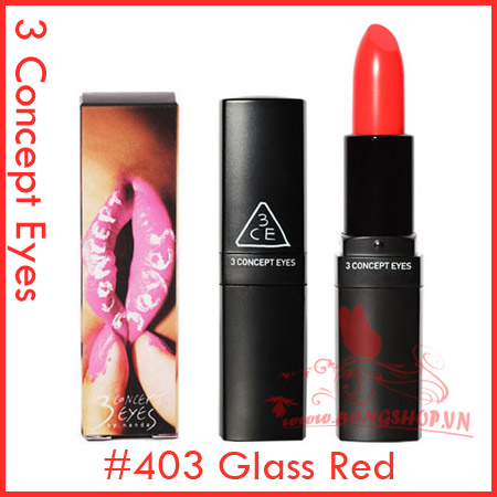 3 Concept Eyes Lip Color #403 Glass Red