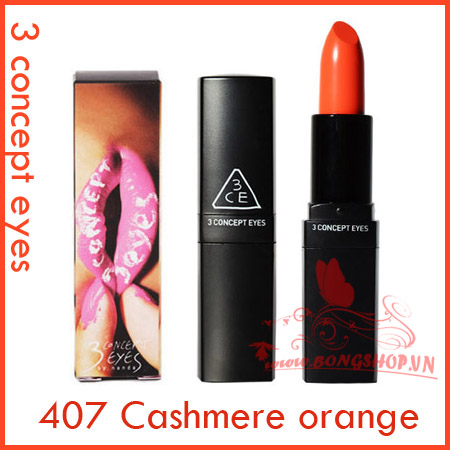 3 Concept Eyes Lip Color #407 Cashmere orange