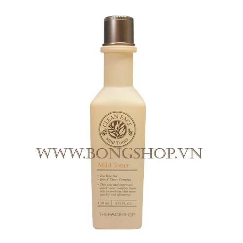 Nước hoa hồng dành cho da dầu và mụn - Clean Face Mild Toner The Face Shop