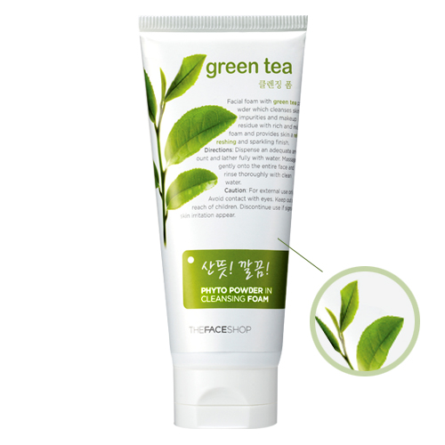 Sữa rửa mặt Trà xanh - Green tea phyto powder in Foam Cleanser - TFS