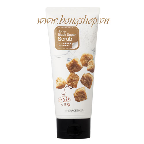 Tẩy da chết Honey Black Sugar - The Face Shop