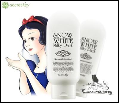 Kem tắm trắng mặt và toàn thân Snow White Milky Pack