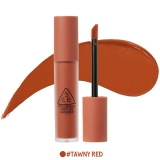 Son kem 3ce Soft lip lacquer #TAWNY RED