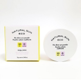 Phấn bột chống nắng Natural Sun Eco No shine sun powder Poudre solaire matifiant - The Face Shop